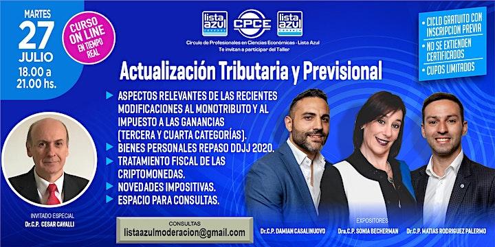 Imagen de Actualización Tributaria y Previsional  2021 - Gratuito - Cupos limitados