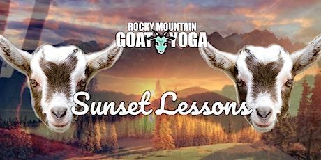 Sunset Baby Goat Yoga - August 4th (RMGY Studio) tickets