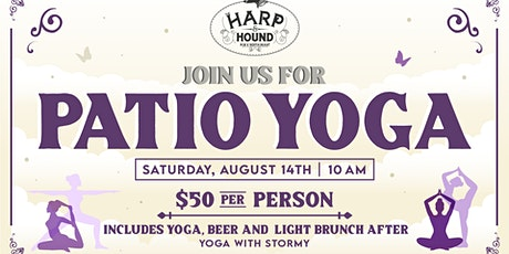 Patio Yoga with Stormy tickets