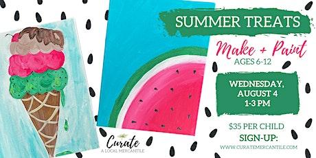 Summer Treats Make + Paint for Kids tickets