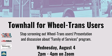 Townhall for Wheel-Trans Users tickets