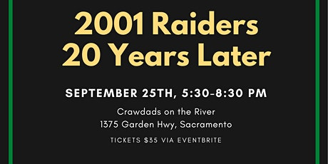 Rio Americano Class of 2001 20 Year Reunion tickets