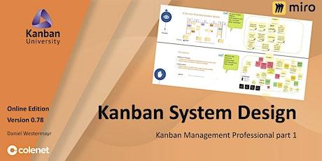 Kanban System Design - Kanban designen und anwenden (KSD / KMP I) Tickets