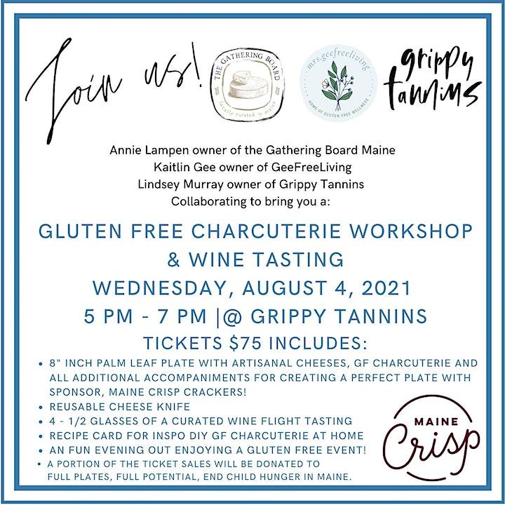 Gluten Free Charcuterie  Workshop & Wine Tasting image