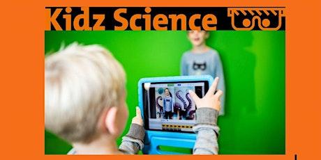 Kidz Science presenteert: green screen tickets