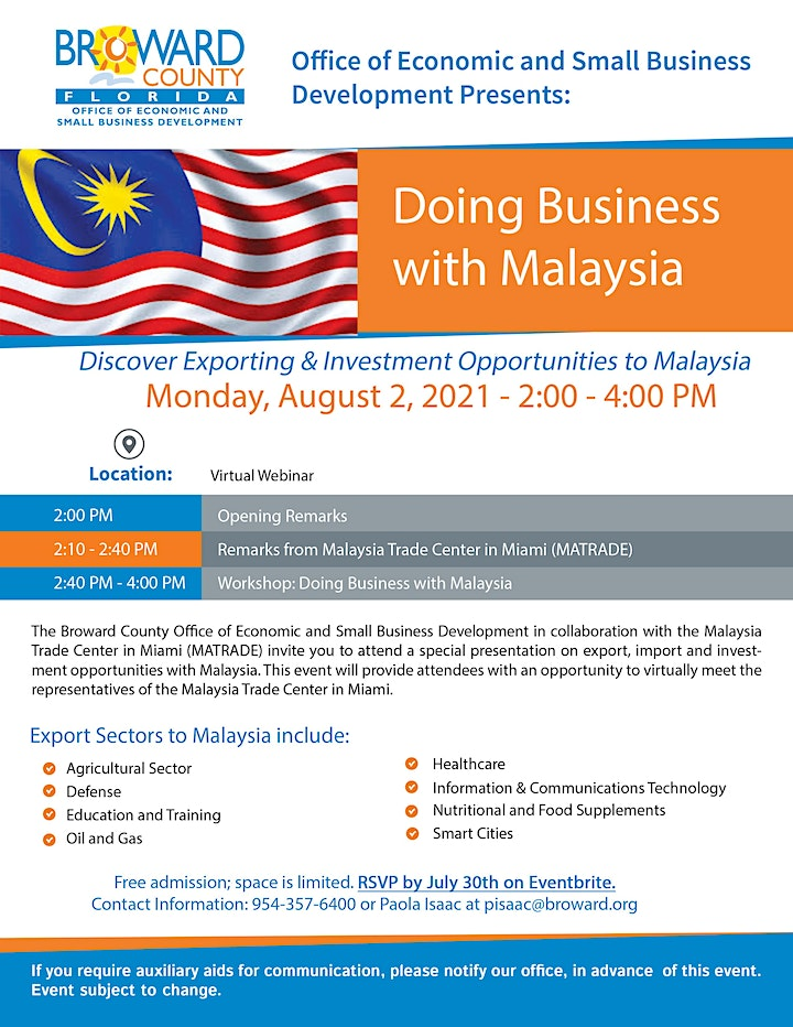 Doing Business with Malaysia image