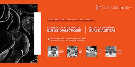 Recherche et psychanalyse : quelle dialectique? bilhetes