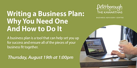 Writing a Business Plan: Why You Need One and How To Do It tickets