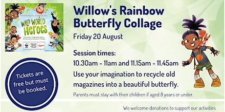 Willow's Rainbow Butterfly Collage at Lymington Library tickets