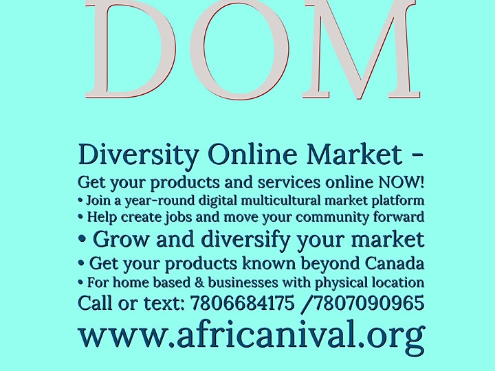 Information Session On Diversity Online Market (DOM). Multicultural busines image