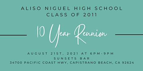 ANHS Class of 2011 - 10 Year Reunion tickets