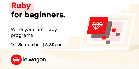 Get started with Ruby!♦️ tickets