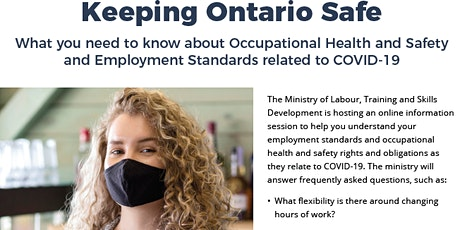 Occupational Health and Safety and Employment Standards during COVID-19 tickets