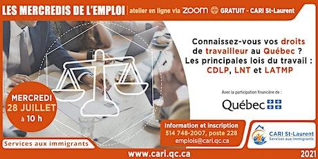 Connaissez-vous vos droits de travailleur au Québec? billets