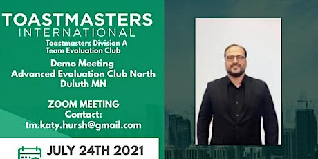 Toastmasters Division A Team Evaluation Club tickets