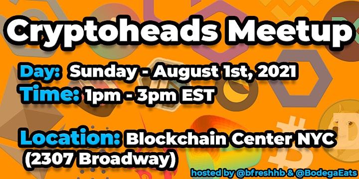 Cryptoheads Meetup (Cryptocurrency & Blockchain) image