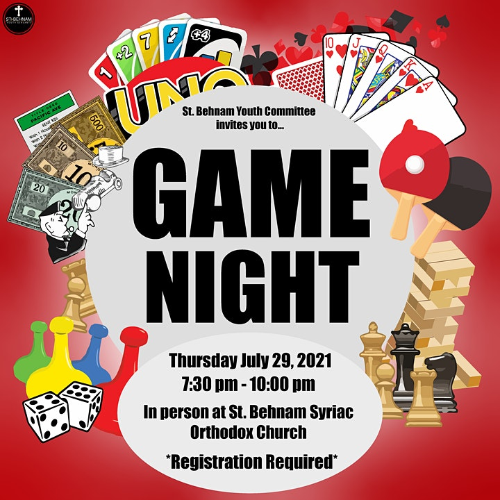 St. Behnam Youth   Outdoor in person games night image