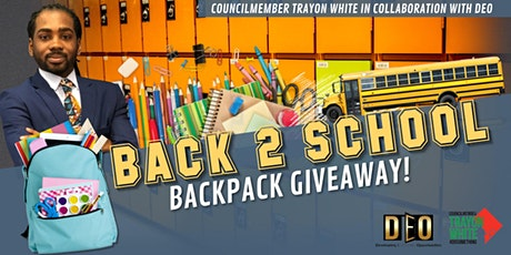 Back 2 School Backpack Giveaway tickets