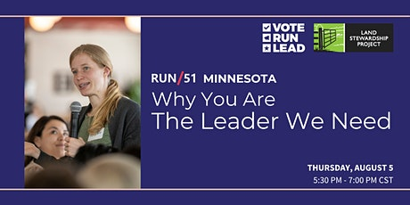 RUN/51 Minnesota: Why You Are The Leader We Need entradas