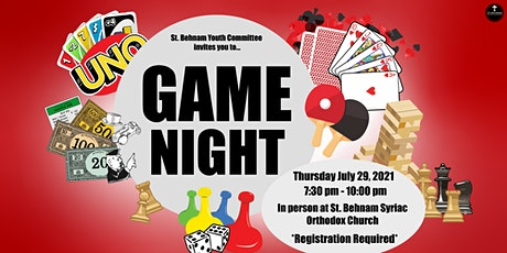 St. Behnam Youth | Outdoor in person games night tickets