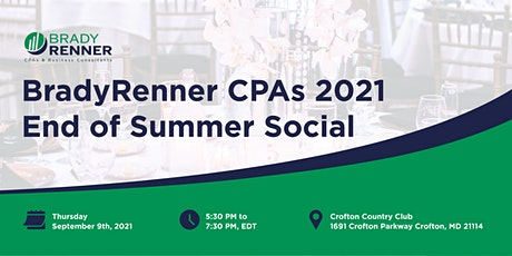 Brady Renner CPAs 2021 End of Summer Social tickets