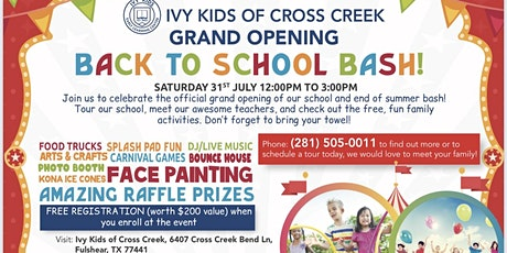 Ivy Kids Cross Creek Grand Opening Carnival Event tickets