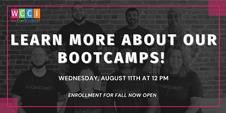 Learn More About Part-Time and Full-Time Coding Bootcamps - Info Session tickets