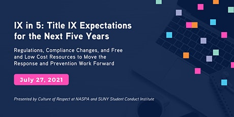 IX in 5: Title IX Expectations for the Next Five Years tickets