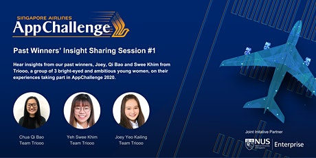 SIA AppChallenge 2021: Past Winners' Insight Sharing Session #1 tickets