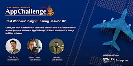 SIA AppChallenge 2021: Past Winners' Insight Sharing Session #2 tickets