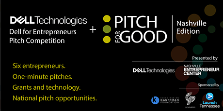 Pitch for Good 2021: Nashville Founders Edition + Dell for Entrepreneurs tickets