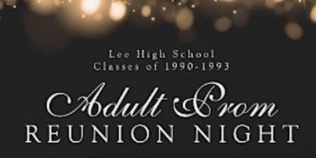 LHS '90-'93The Original Generals -   Adult Prom tickets