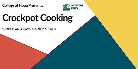 Crockpot Cooking tickets