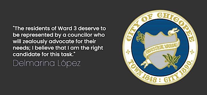 Delmarina López for Chicopee Ward 3 Campaign Kick-Off image