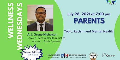 Racism and Mental Health - Parent tickets