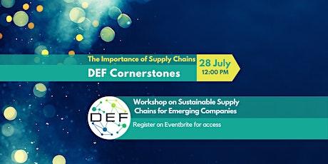 DEF Cornerstones - Workshop on  Sustainable Supply Chains (Virtual Webinar) tickets