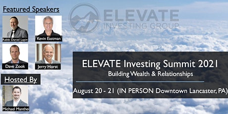 ELEVATE Investing Summit 2021 - Building Wealth & Relationships tickets