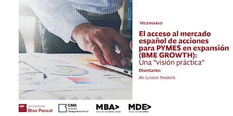 Webinario> El acceso al mercado español de acciones para PYMES ingressos