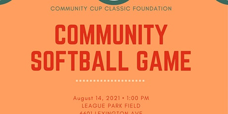 Community Cup Classic Foundation Community Softball Game tickets