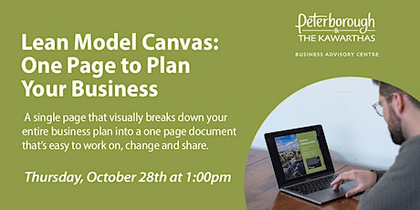 Lean Model Canvas: One Page to Plan Your Business tickets