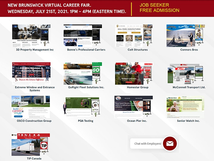 New Brunswick Virtual Fair- Wednesday, July 21st, 2021. image