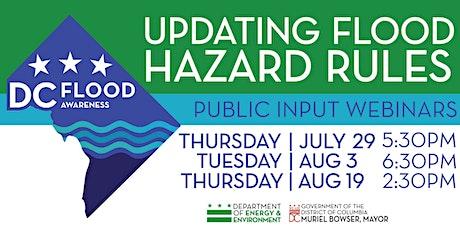 New Safety Rules for Floodplain Properties: Public Input Webinars tickets