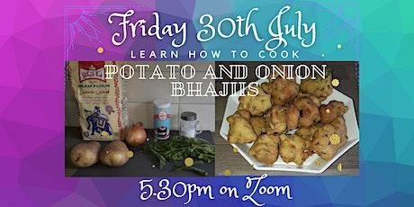 SANCTUARY COOKALONG series: Make Indian Potato and Onion Bhajiis on ZOOM tickets