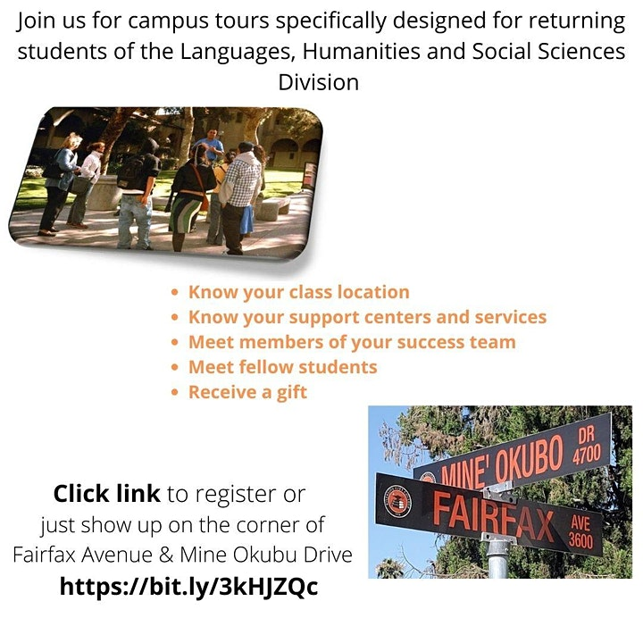 RCC Campus Tours For Returning Students Sponsored By The LHSS Division image