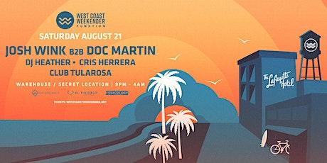 Weekender Warehouse Experience: Josh Wink b2b Doc Martin, Cris Herrera + tickets