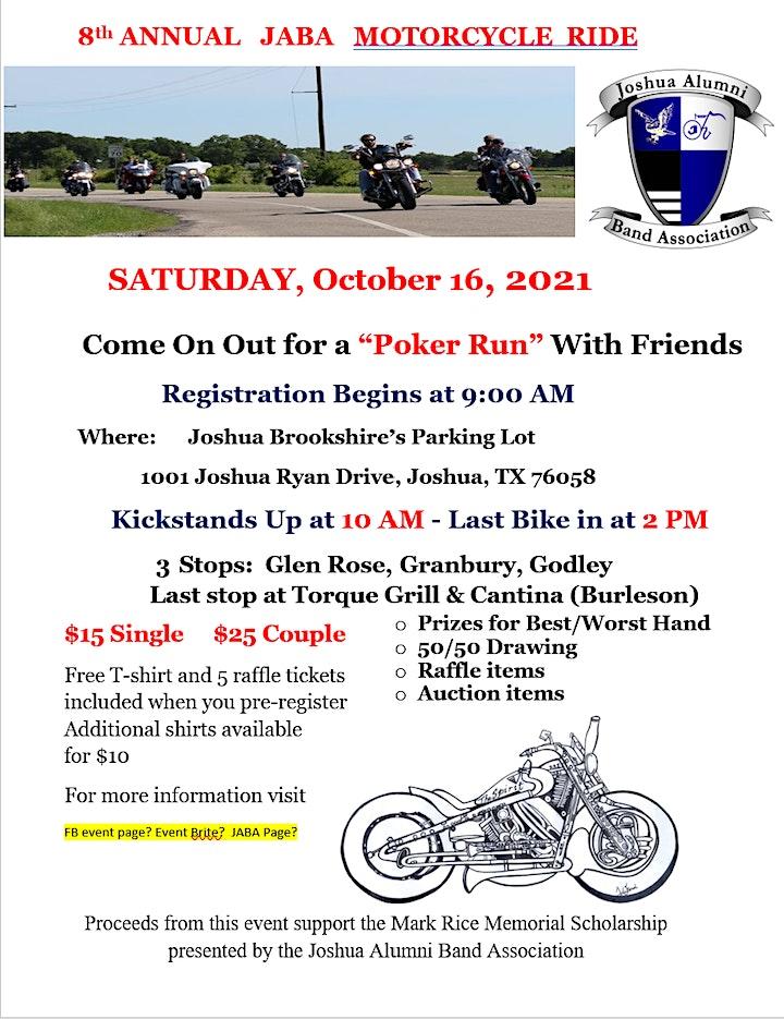 8th Annual JABA  Motorcycle Ride image