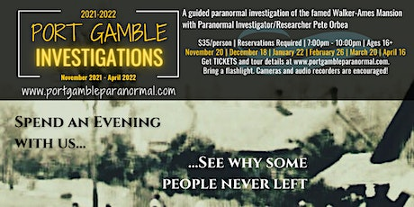 Port Gamble Special Investigation tickets