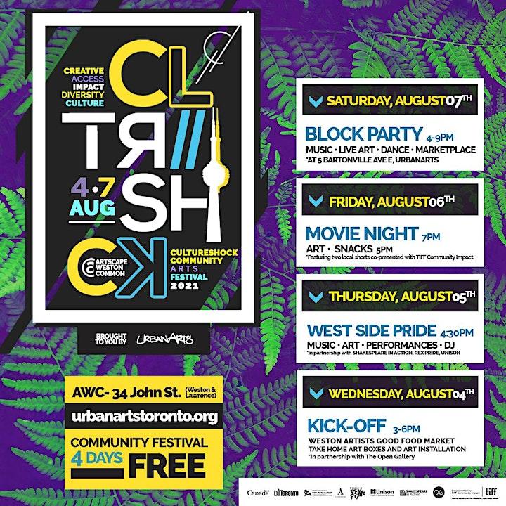 CultureShock Community Arts Festival 2021 image