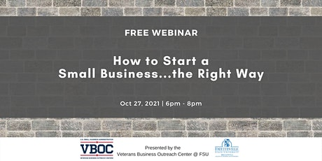 How to Start a Small Business...the Right Way tickets
