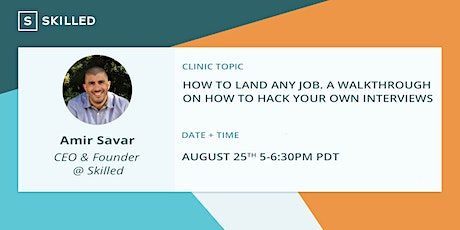 How to Land Any Job: A walkthrough on how to hack your own interviews tickets